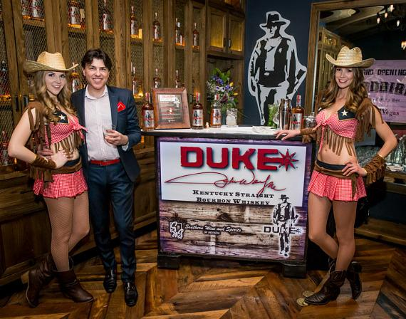 Representatives of DUKE Whisky at Yardbird Southern Table & Bar at The Venetian Las Vega