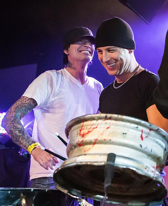 Tommy Lee of Motley Crue and Stephen Perkins of Jane's Addiction