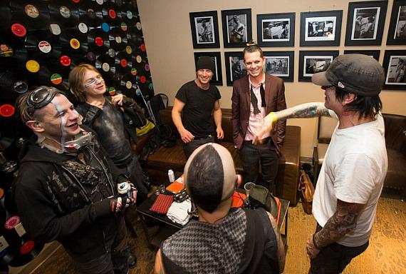 Street Drum Corp with Stephen Perkins of Jane's Addiction, Adrian Young of No Doubt and Tommy Lee of Motley Crue