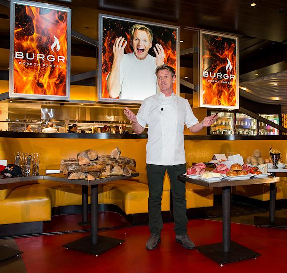 Gordon Ramsay at Burgr