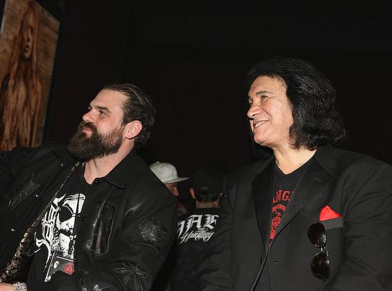 Gene Simmons and Jason Dussault at the Hard Rock Hotel & Casino's Wasted Space