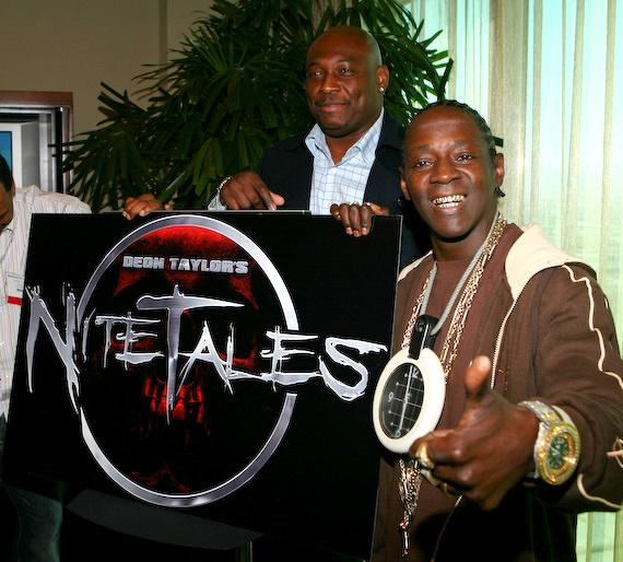 Flavor Flav promotes Deon Taylor's Nite Tales at NATPE in Las Vegas