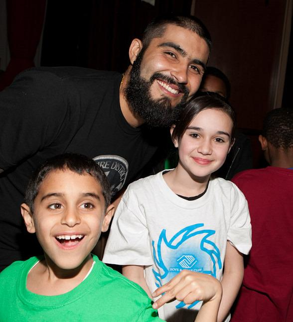 SF Giant Sergio Romo visits Boys &amp; Girls Clubs of Las Vegas at Palms Casino Resort