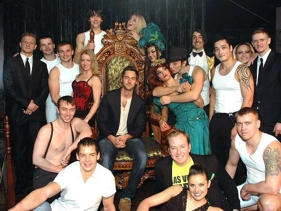 Ryan Eggold with cast of Absinthe