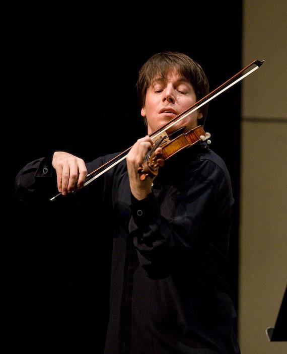 Violinist Joshua Bell performing at the UNLV Performing Arts Center