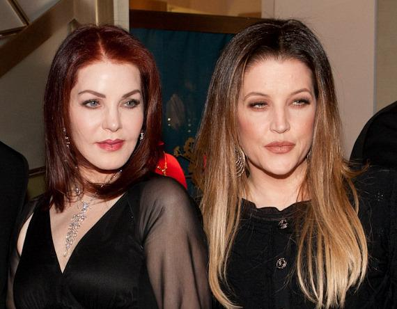 Priscilla Presley and Lisa Marie Presley