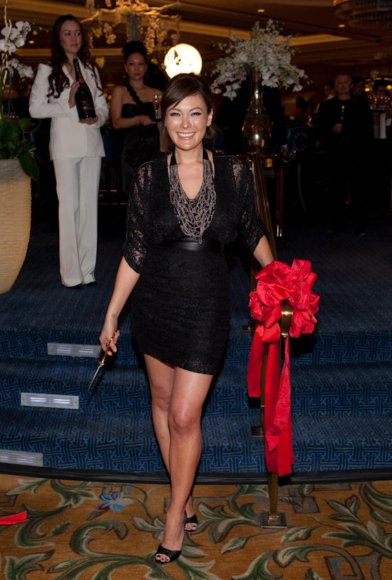 Lindsay Price after cutting the ribbon