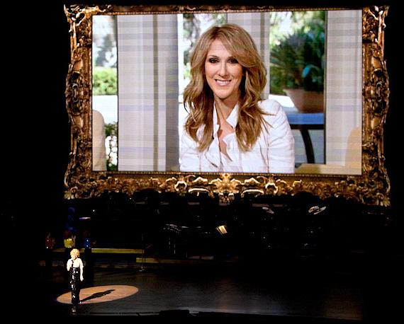 Bette Midler watches video from Celine Dion
