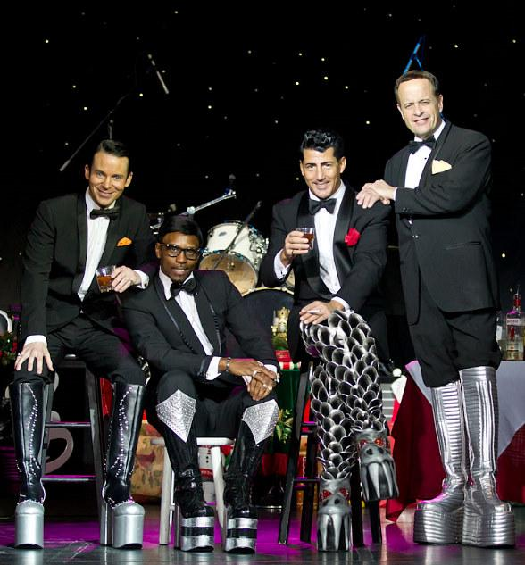 In commemoration of Joey Bishop's birthday, the Rat Pack is Back! brings a touch of nostalgia to the official KISS boots that are currently touring Las Vegas in celebration of the upcoming opening of KISS by Monster Mini Golf on March 15, 2012