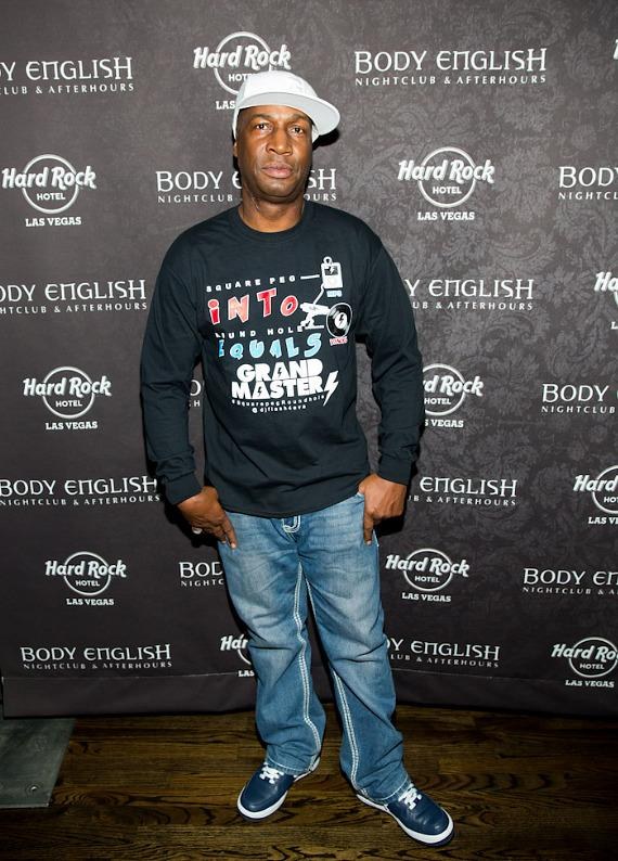 Grandmaster Flash arrives at Body English Nightclub in Las Vegas