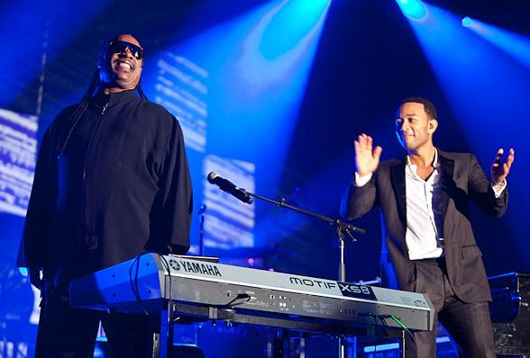 Stevie Wonder and John Legend