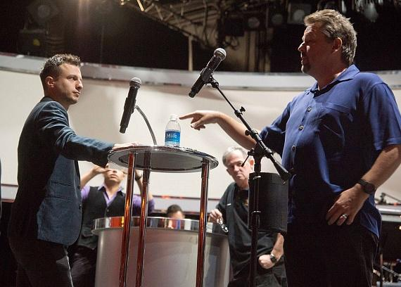 Mat Franco and Terry Fator during rehearsals
