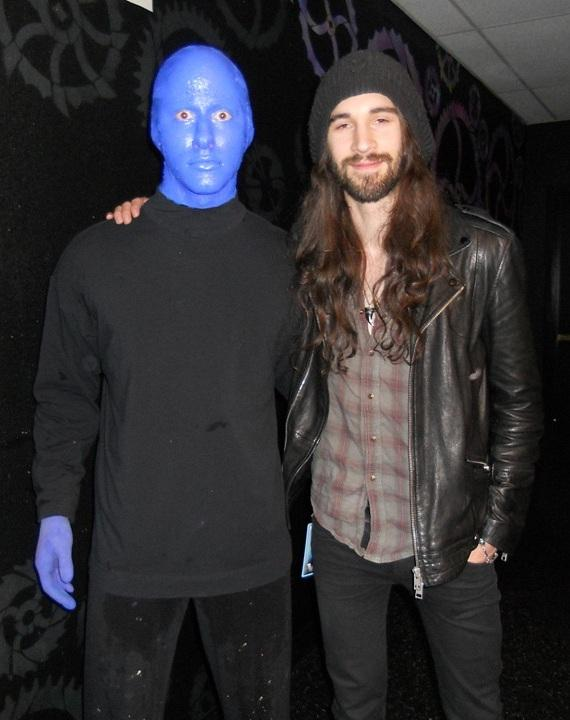 Frank Sidoris, guitarist for Slash, attends Blue Man Group at Monte Carlo Resort and Casino