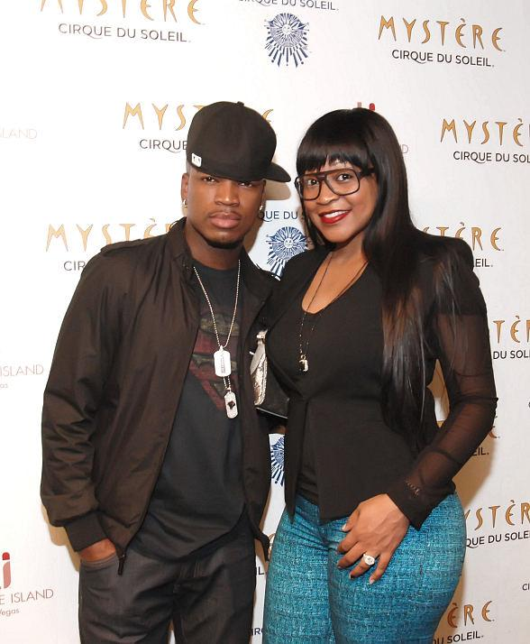 Ne-Yo and fiance Monyetta Shaw at Mystre by Cirque du Soleil at Treasure Island Las Vegas