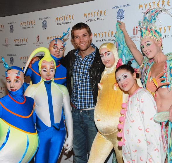 Spartacus: Vengeance Star Liam McIntyre Attends Mystre by Cirque du Soleil