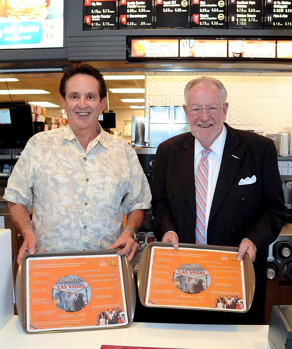 Tom Arlt and Oscar B. Goodman at McDonald