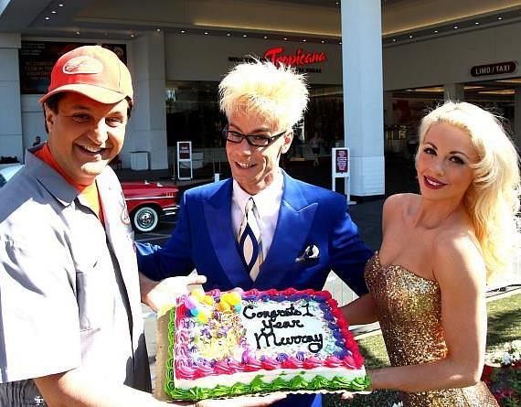 "Murray SawChuck, Chloe Crawford and Douglas ""Lefty"" Leferovich celebrate 1 Year Anniversary at The Tropicana Las Vegas"