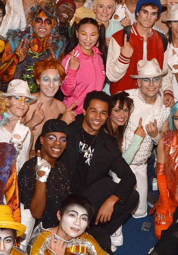 """Dancing with the Stars"" Corbin Bleu & Karina Smirnoff at Michael Jackson ONE"