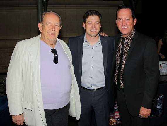 Columnist Robin Leach, Damian Costa (Regional Director of Enterainment at Caesars) and Anthony Cools