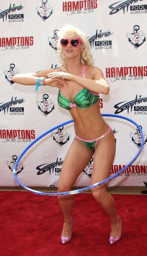 Chloe Crawford with hula hoop at Sapphire Pool & Dayclub in Las Vegas
