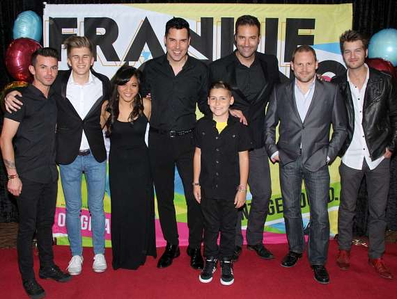 Band members Mathew Belote, Alexander Zeilon, Sammi Ciarlo, Frankie Moreno, Frankie's son Giovianni, Tony Moreno, Chandler Judkins and Chris Massa