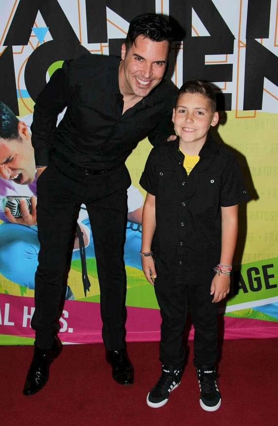 Frankie Moreno with son Giovianni