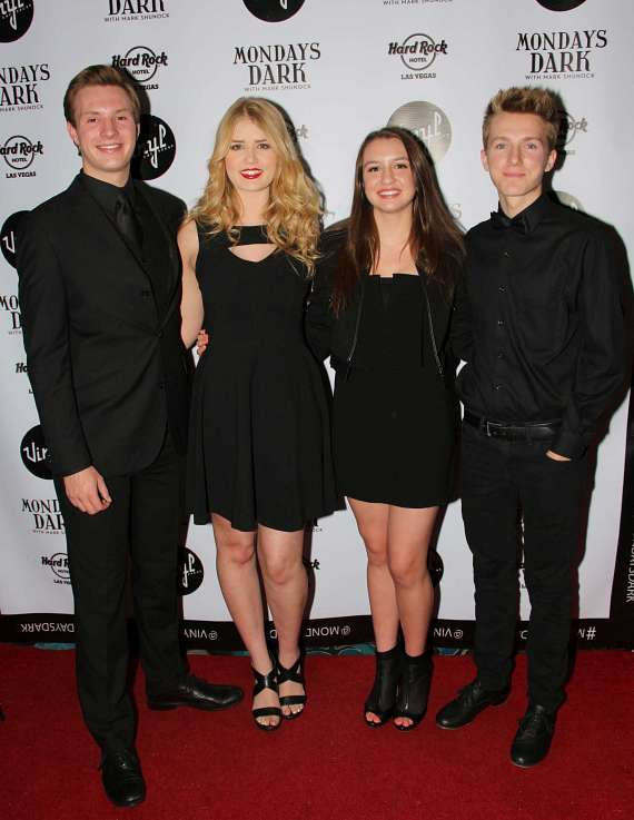 The Las Vegas Young Entertainers: Harrison Langford, Johanna Jones, Jessica Ruettiger & Jackson Langford
