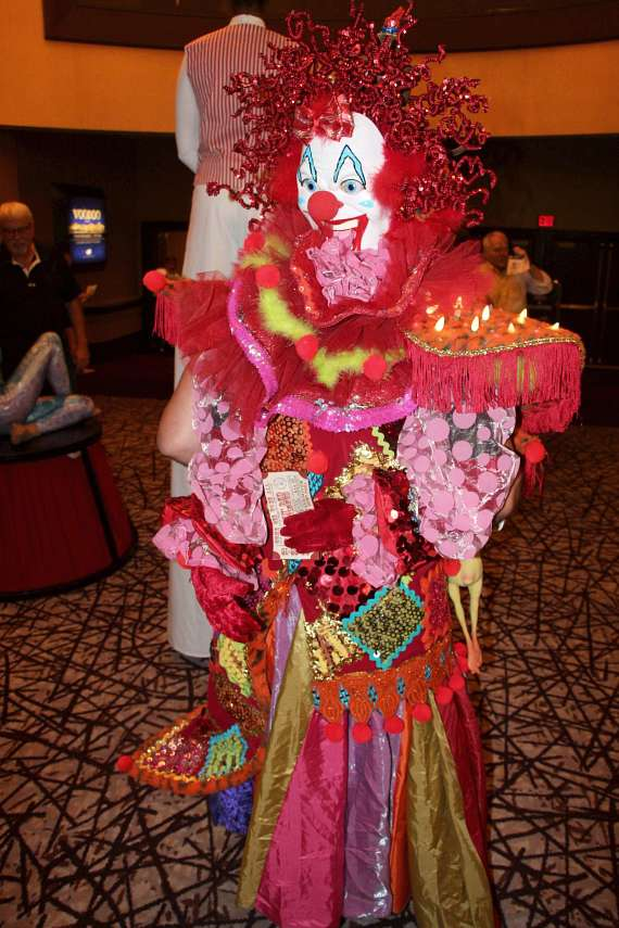 "Guests and performers in lobby at Golden Rainbow's 28th Annual ""Ribbon of Life"""
