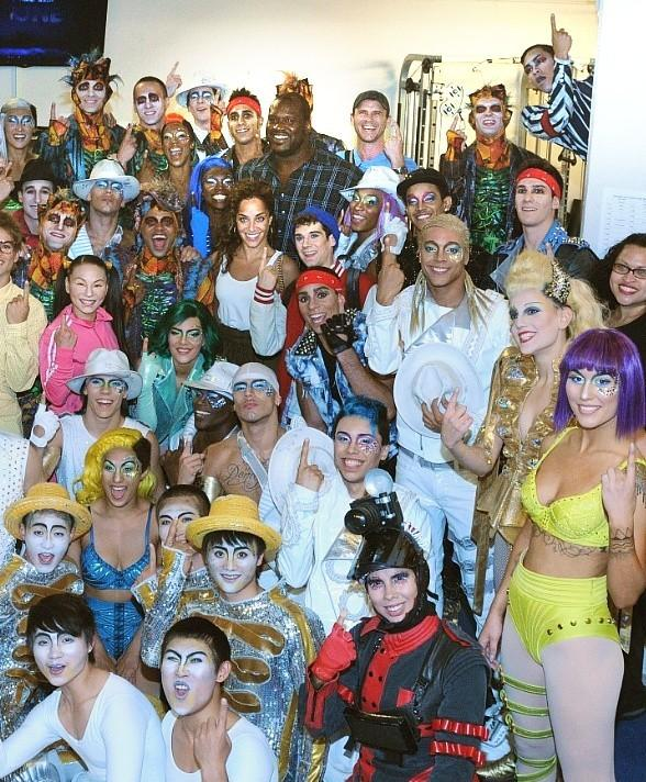Shaquille O'Neal Attends Michael Jackson ONE by Cirque du Soleil at Mandalay Bay