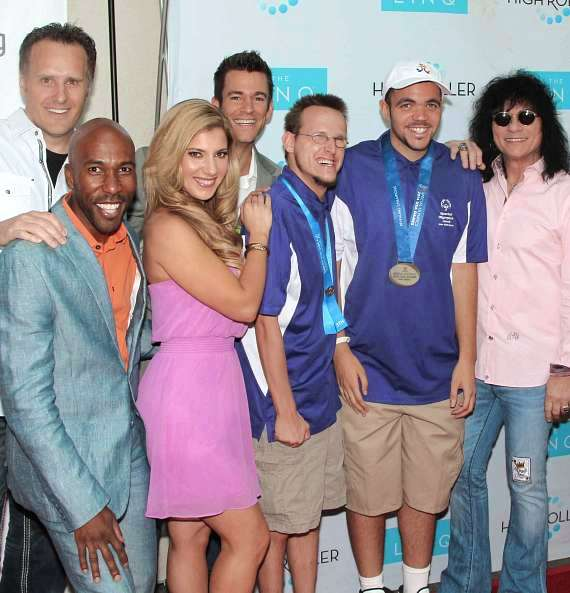 Gerry McCambridge, Eric Jordan Young, Maren Wade, Jeff Civillico, Special Olympic athletes and Paul Shortino