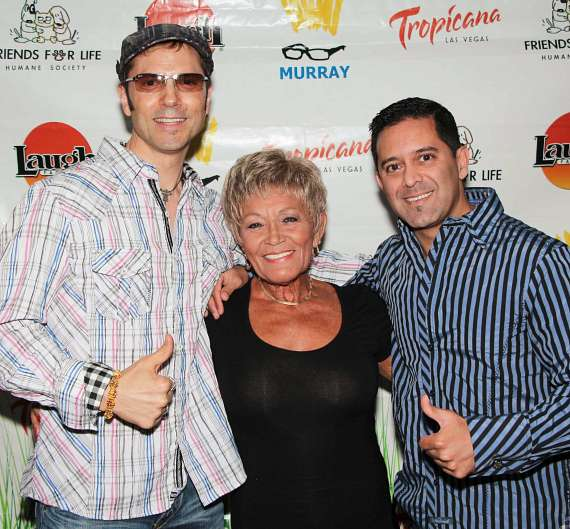 Jarrett Parker and Raja Rahman with Top USA Magic Agent Jackie Beer