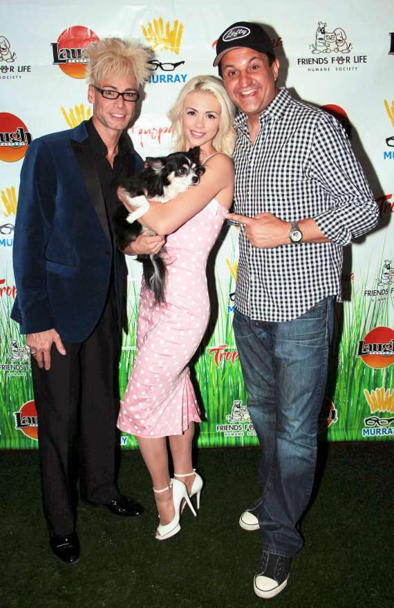 "Murray SawChuck, Chloe Louise Crawford and Douglas ""Lefty"" Leferovich at 'Beggin for Magic II'"