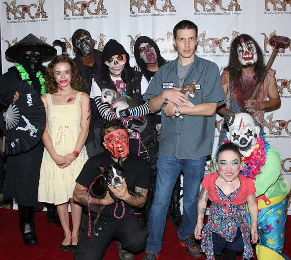Jason Egan and cast of Fright Dome
