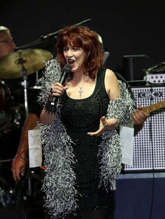Denise Clemente performs at  San Gennaro Feast