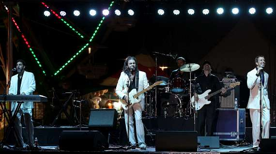 Bee Gees Gold performs at  San Gennaro Feast