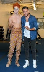 "Liam Payne of One Direction at ""Michael Jackson ONE by Cirque du Soleil"" at Mandalay Bay"