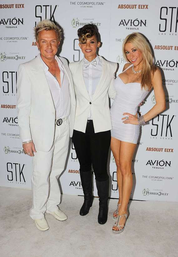 Chris Phillips, Butterscotch and Lydia Ansel at STK White Party