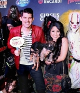 Lance Burton, Claire Sinclair, Ben Stone, Jasmine Trias, Mark Shunock, Sid Haig, Paul Shortino, Frank Mir, Paul Johnson, Dirk Vermin, Zak Bagans and Jabbawockeez walk the Black Carpet at Fright Dome's Grand Opening