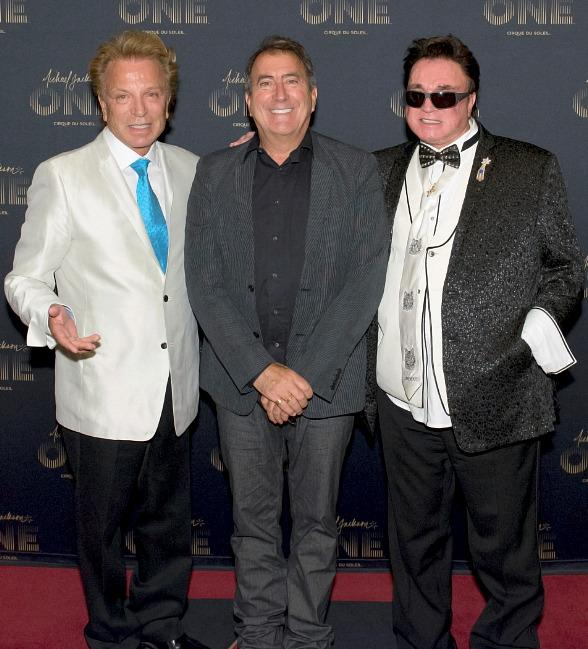 Siegfried & Roy with Kenny Ortega at Michael Jackson ONE by Cirque du Soleil