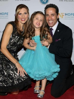 JERSEY BOYS star and NF Hope Concert founder, Jeff Leibow, along with his wife, Melody, co-founder of the NF Hope Concert, and daughter Emma