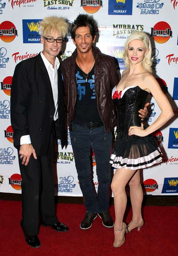 Murray and Chloe with Cass Cates, lead signer of Ashley Red