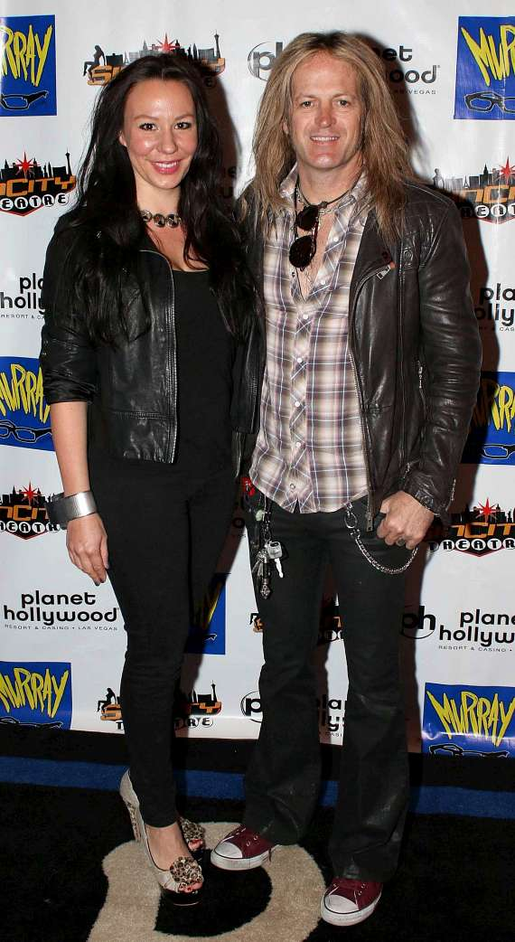 Guitarist Doug Aldrich and wife Daniela