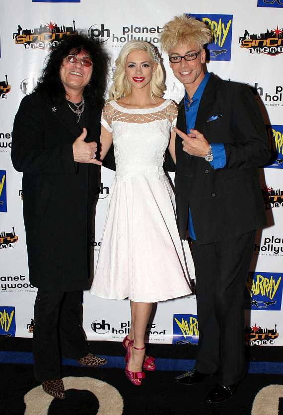 Paul Shortino with Chloe Crawford and Murray SawChuck at Planet Hollywood