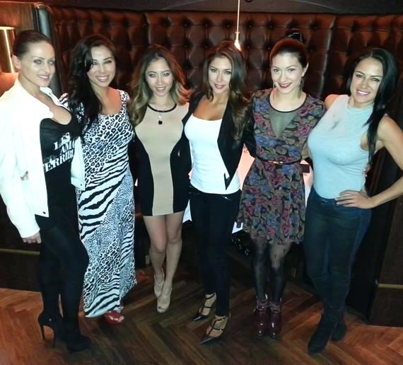 Arianny Celeste and friends at Andiamo Italian Steakhouse in the D Las Vegas