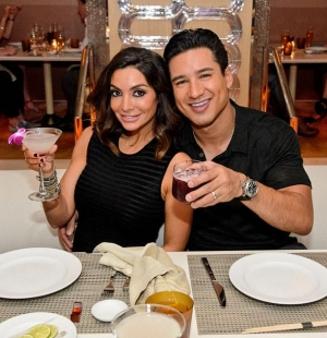 Mario Lopez and his wife Courtney Mazza Lopez at Andrea's