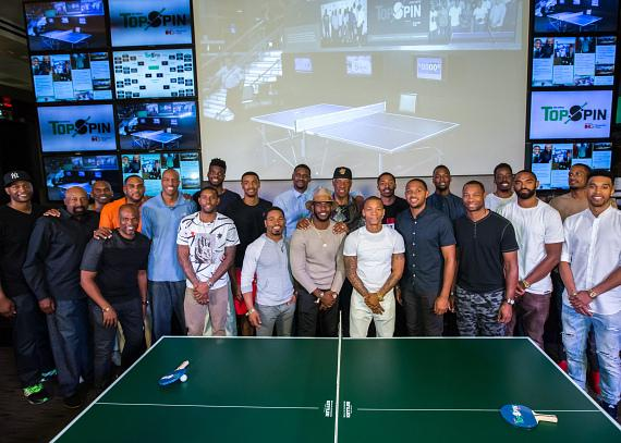 2015 TopSpin Charity Ping Pong Tournament Group Shot