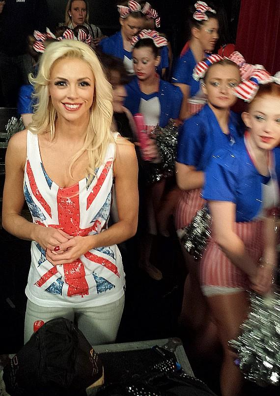 Chloe backstage at Britain's Got Talent