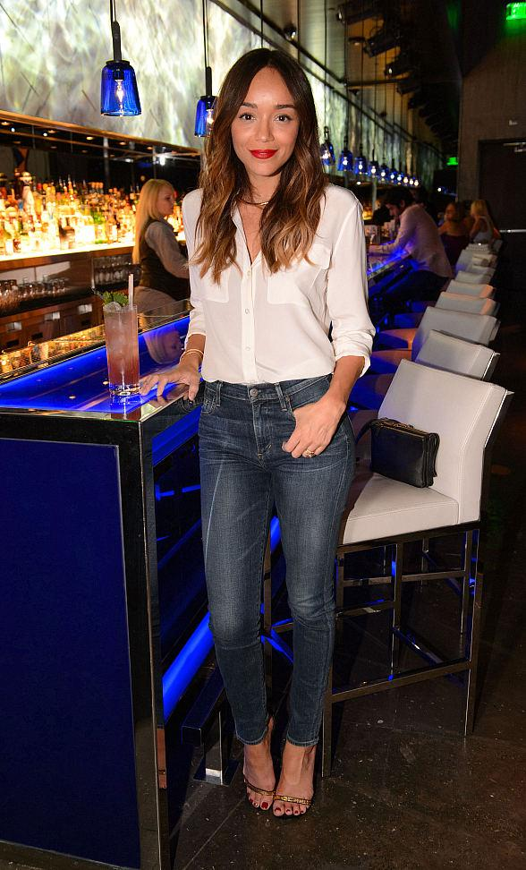 Actress Ashley Madekwe spotted at Hakkasan Las Vegas