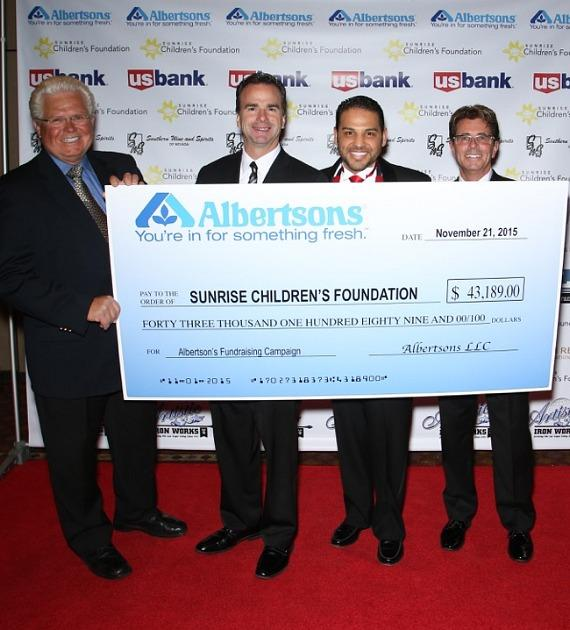 Albertson's donation of $43,189.00 to Sunrise Chilfdren's Hospital