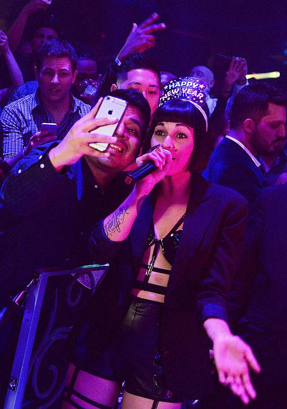 Nina Sky perform at LAX Nightclub inside Luxor Hotel & Casino